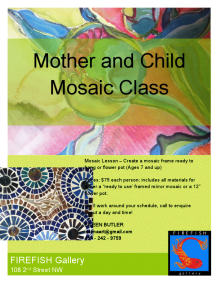 mother and child mosaic class